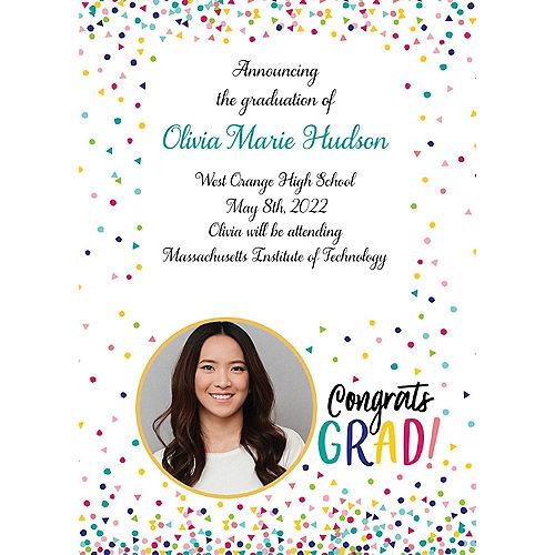 Custom Yay Grad College Grad Photo Announcements Image #1