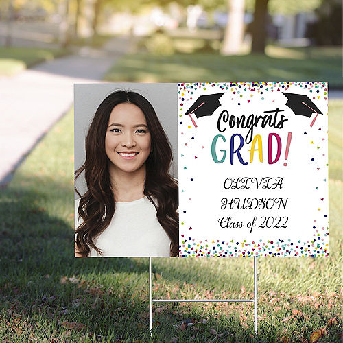 Custom Yay Grad Photo Yard Sign Image #1