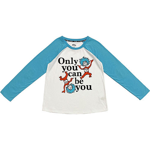 Only You Can Be You Raglan Tee for Adults - Dr. Seuss Image #1