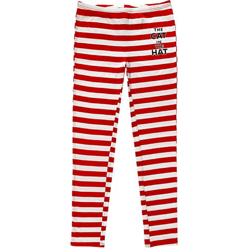 Striped Cat in the Hat Leggings for Adults - Dr. Seuss Image #1