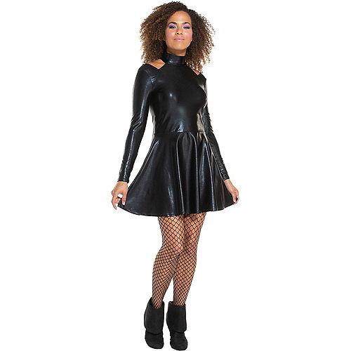 Adult Black Alien Dress Image #1
