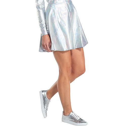 Adult Silver Alien Dress Image #3