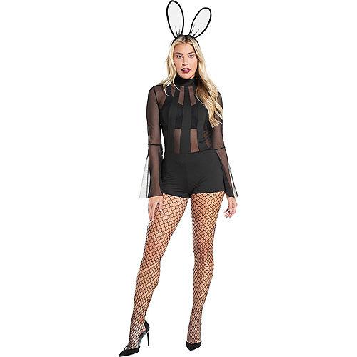 Adult Black Bunny Costume Accessory Kit Image #1