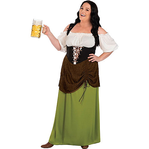 Beer Maiden Costume for Adults - Plus Size Image #1
