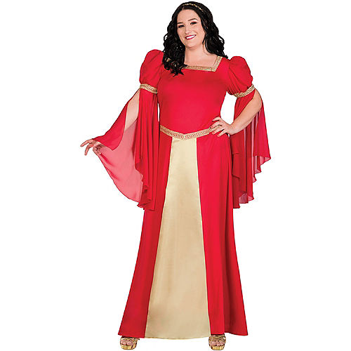 Red & Gold Renaissance Costume for Adults - Plus Size Image #1