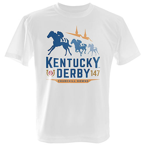 White Kentucky Derby 147 T-Shirt for Adults Image #1