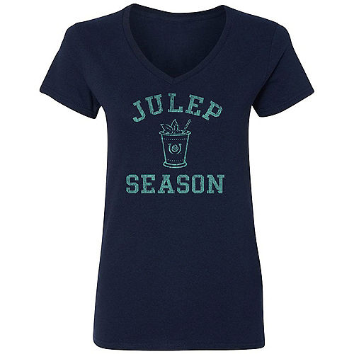 Blue Julep Season Kentucky Derby V-Neck T-Shirt for Adults Image #1