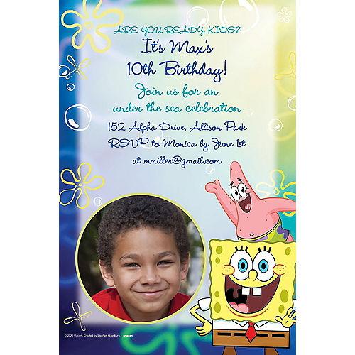 Custom SpongeBob SquarePants Photo Invitations Image #1