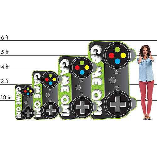 Game Controller Cardboard Cutout, 36in x 22in - Level Up Image #2