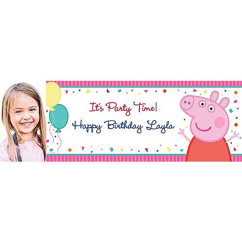 Custom Peppa Pig Photo Horizontal Banner Image #1