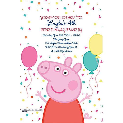 Custom Peppa Pig Invitations Image #1