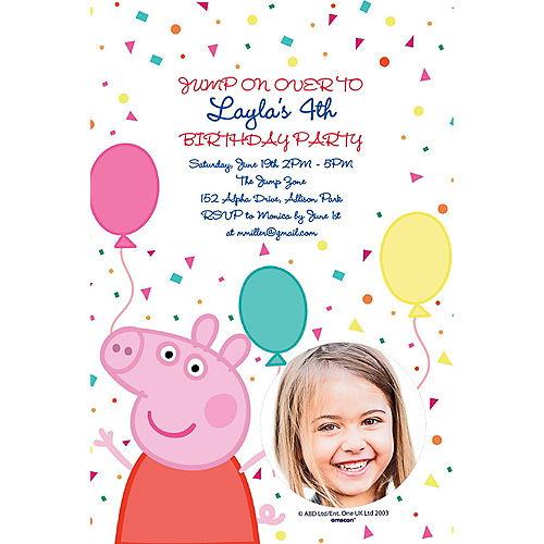 Custom Peppa Pig Photo Invitations Image #1
