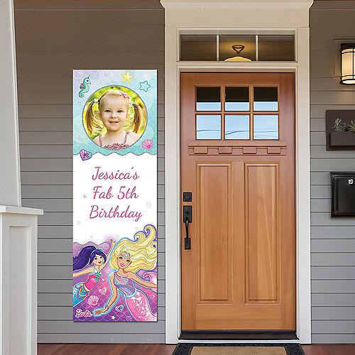 Custom Barbie Mermaid Vertical Banner Image #1