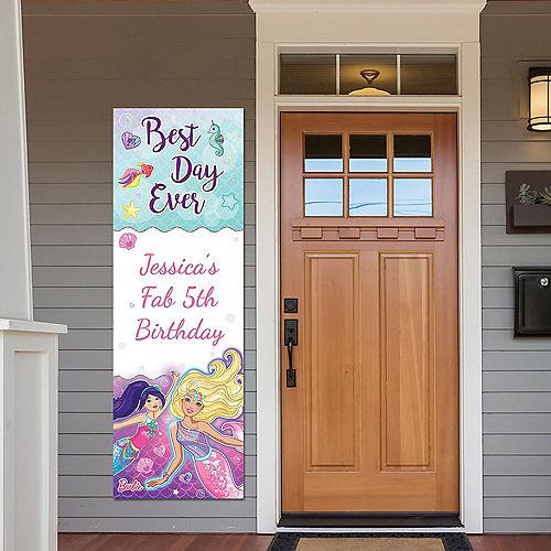 Custom Barbie Mermaid Photo Vertical Banner Image #1