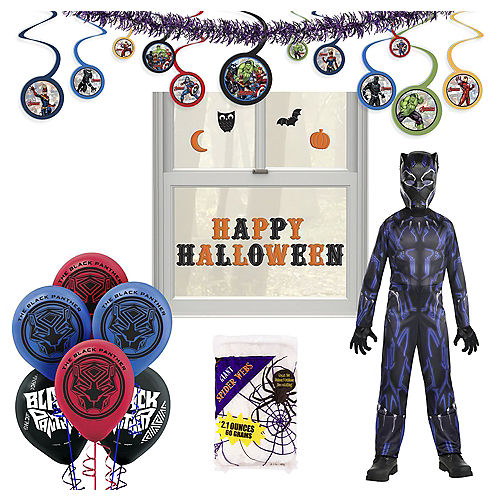 Marvel Black Panther Halloween Car Parade Kit with Black Panther Costume for Kids Image #1