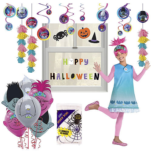 Trolls World Tour Halloween Car Parade Kit with Poppy Costume for Kids Image #1