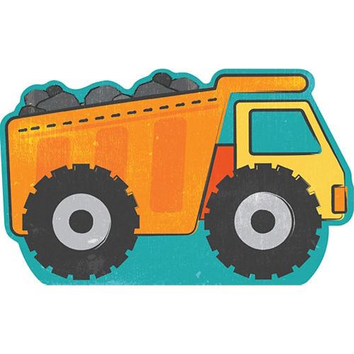 Dump Truck Cardboard Cutout, 36in x 22in - Construction Image #1