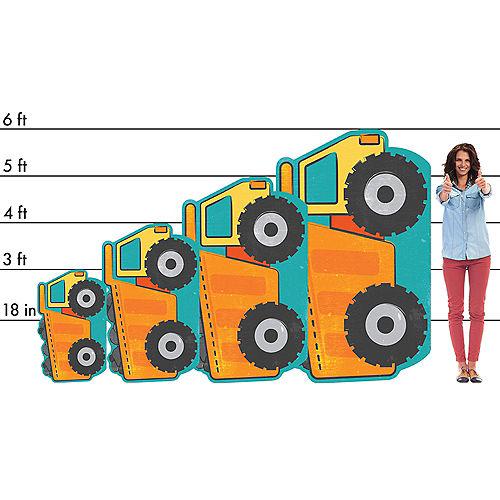 Dump Truck Cardboard Cutout, 36in x 22in - Construction Image #2