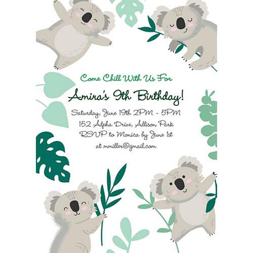 Custom Koala Invitations Image #1