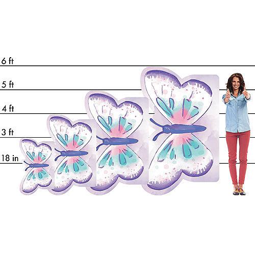 Flutter Butterfly Cardboard Cutout, 36in x 22in Image #2