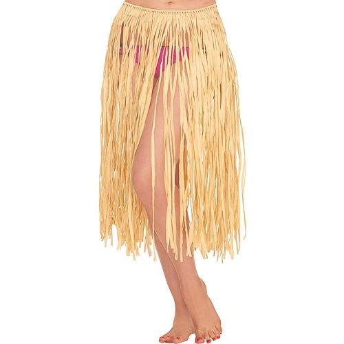 Adult Natural Grass Hula Skirt Image #1