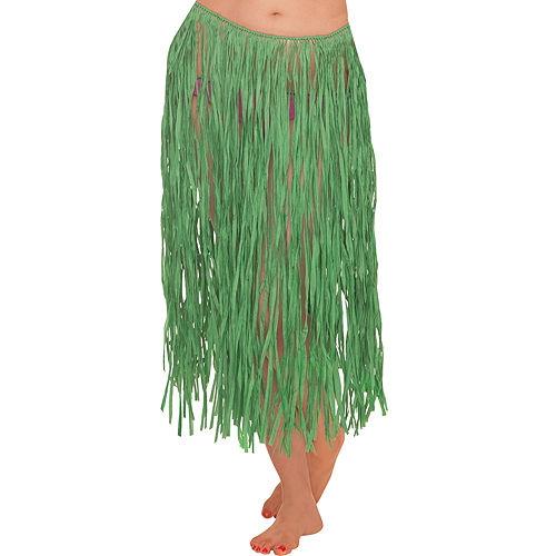 Adult Green Grass Skirt Image #1