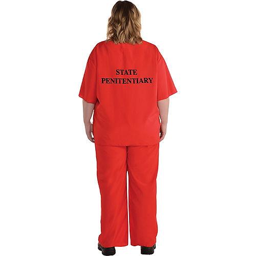 Men's Orange Prisoner Plus Size Costume Image #2