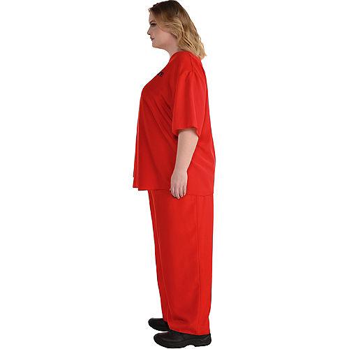 Men's Orange Prisoner Plus Size Costume Image #3
