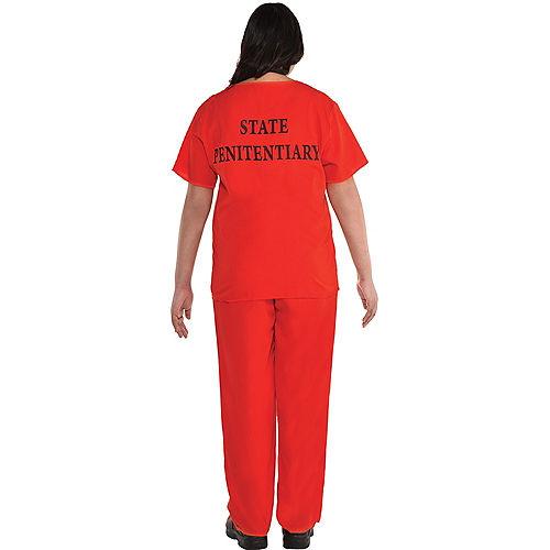 Men's Orange Prisoner Costume Image #2