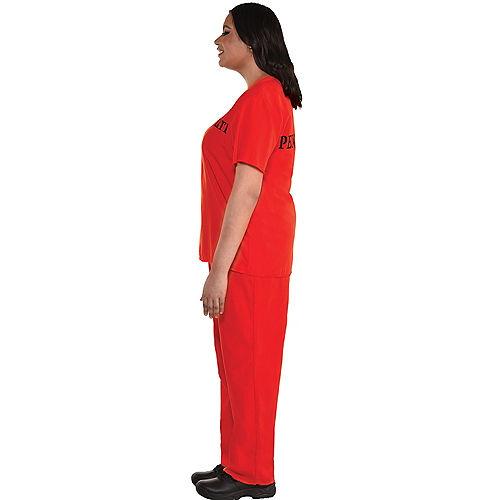 Men's Orange Prisoner Costume Image #3
