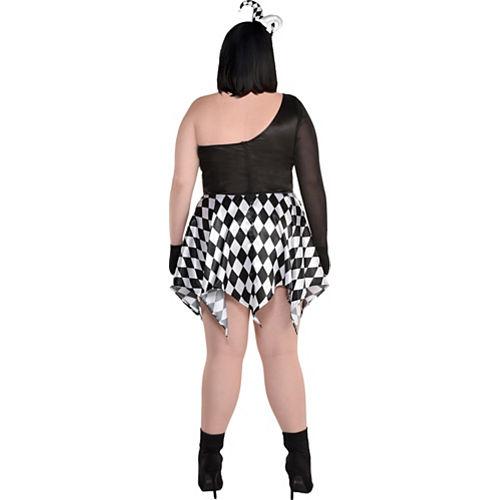 Adult Bad Jester Costume - Plus Size Image #2