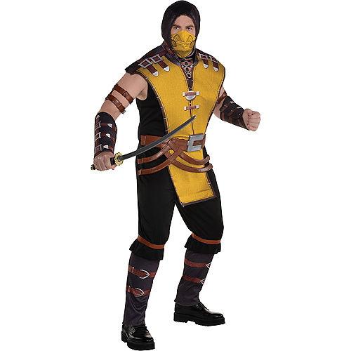Adult Scorpion Plus Size Costume - Mortal Kombat Klassic Image #1
