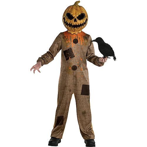 Kids' Rotten Pumpkin Scarecrow Costume Image #1
