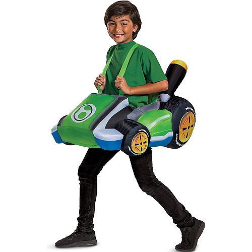 Kids' Yoshi Kart Ride-On Inflatable Costume - Mario Kart Image #1