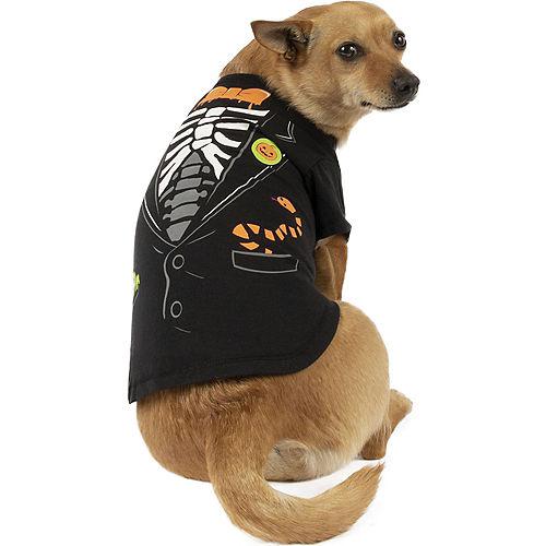 Halloween Skeleton Tuxedo T-Shirt for Dogs Image #1