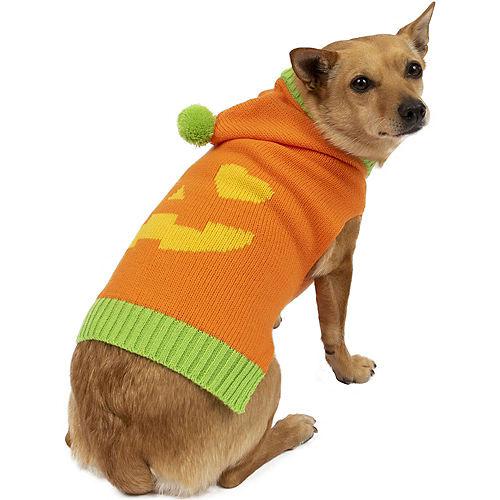 Heart-Eye Jack-o'-Lantern Halloween Sweater for Dogs Image #1