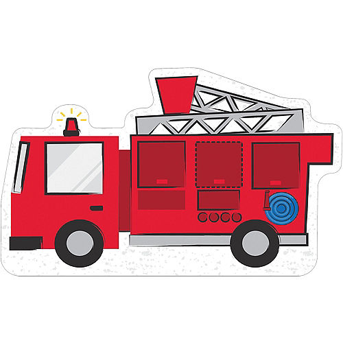 Fire Truck Cardboard Cutout, 36in x 22in - First Responders Image #1