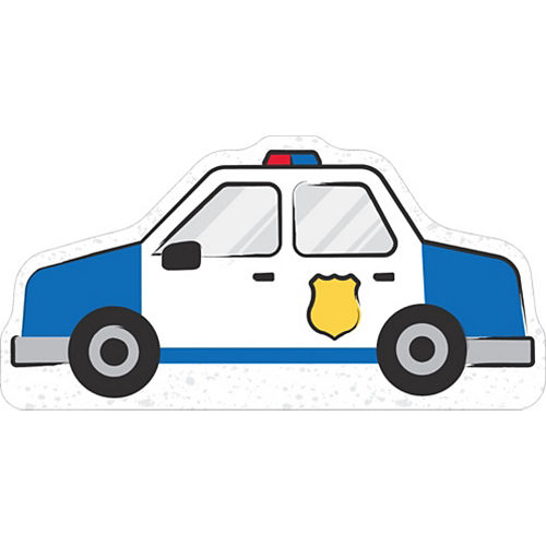 Police Car Cardboard Cutout, 36in x 18in - First Responders Image #1