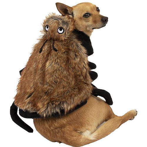 Brown Fuzzy Spider Halloween Costume for Dogs Image #1