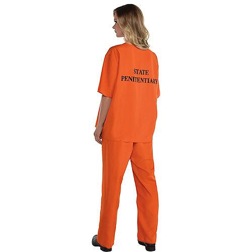 Women's Orange Prisoner Costume Image #2