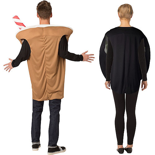 Sprinkle Donut & Cold Brew Coffee Couples Costumes for Adults Image #2