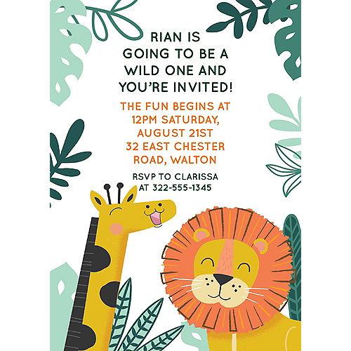 Custom Get Wild Jungle Cardstock Invitations Image #1