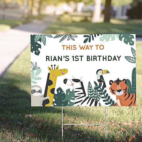 Custom Get Wild Jungle Plastic Yard Sign Image #1
