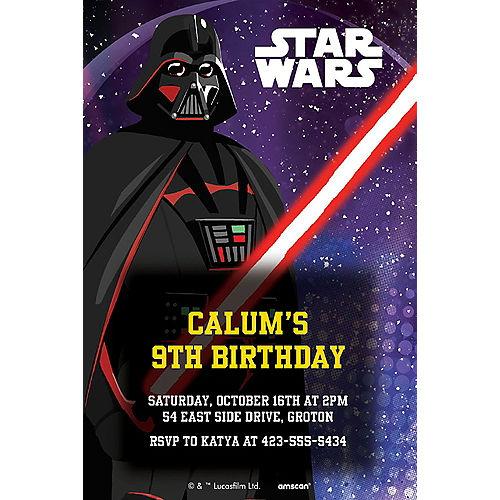 Star Wars Custom Galaxy of Adventures Invitations - Star Wars Image #1