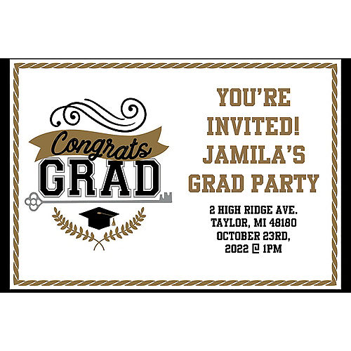Custom Achievement is Key Graduation Invitations Image #1