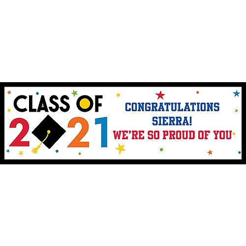 Custom Congratulations 2021 Graduation Horizontal Banner Image #1