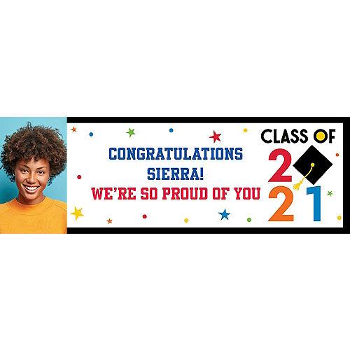 Custom Congratulations 2021 Graduation Photo Horizontal Banner Image #1