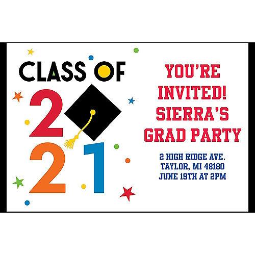 Custom Congratulations 2021 Graduation Invitations Image #1
