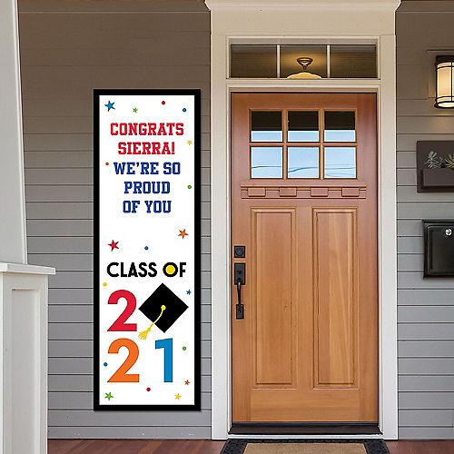 Custom Congratulations 2021 Graduation Vertical Banner Image #1