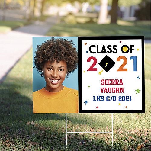 Custom Congratulations 2021 Graduation Photo Yard Sign Image #1